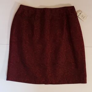 MixIt Rouge Red/Black Print Pencil Skirt 8 NWT